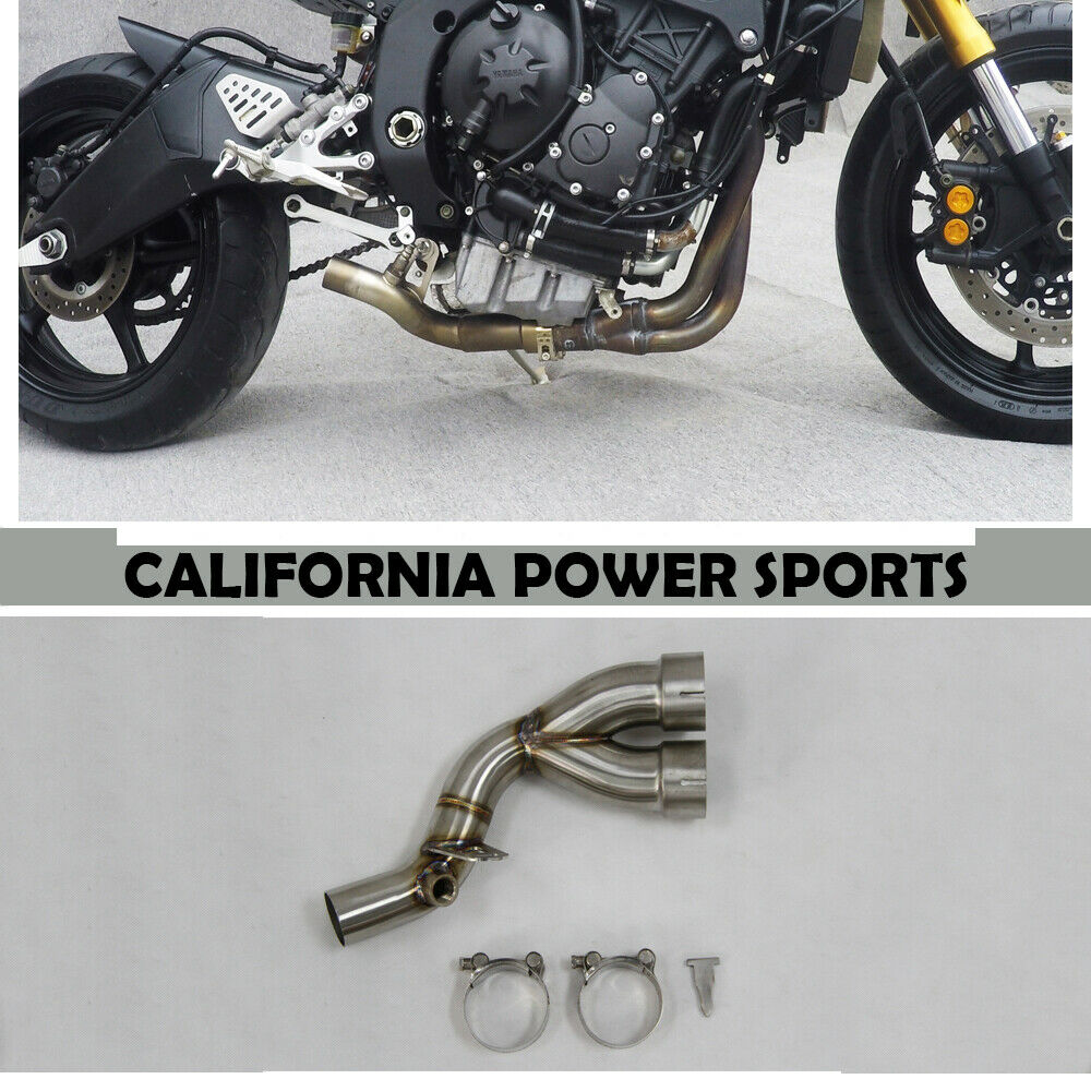 Race decat eliminator muffler Y mid pipe link For Yamaha YZF-R6 2008-2016 2012