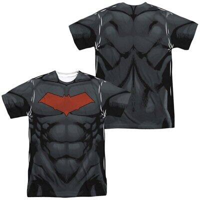 Authentic DC Batman Red Hood Style Costume Uniform Allover Front Back - Authentic Batman Costumes