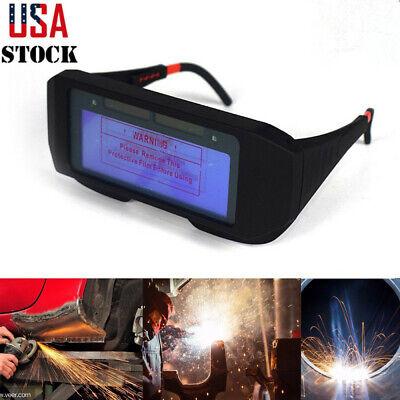 Solar Powered Auto Darkening Welding Helmet Eyes Goggles Welder Glasses