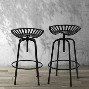 1x Kitchen Bar Stools Tractor Stool Chairs Vintage Metal Black Perth Perth City Area Preview