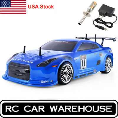 HSP RC Car 4wd 1:10 On Road Nitro Gas Touring Racing Two Speed Igniter Charger