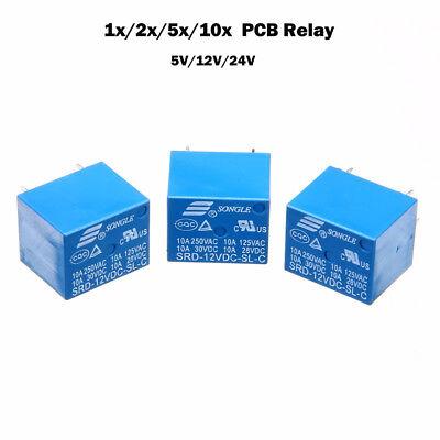 PCB Neu Leistungsrelais für Printmontage 5Pin Miniatur Power Relais 5V/12V/24V 24v Relais