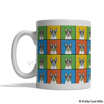 Terrier Dog Mug (Rat Terrier Dog Mug - Cartoon Pop-Art Coffee Tea Cup 11oz)