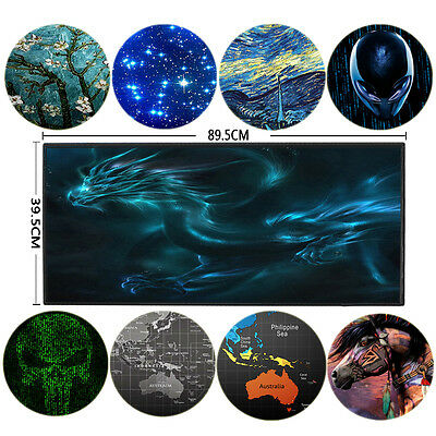 Hot Large XXL Size 900*400mm Rubber Gaming Mouse Pad Mat for PC Laptop Computer