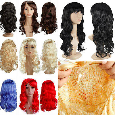 Cosplay Full Wigs Straight Wavy Curly Halloween Costume Hair Wig Red Pink Brown - Curly Red Hair Halloween Costume
