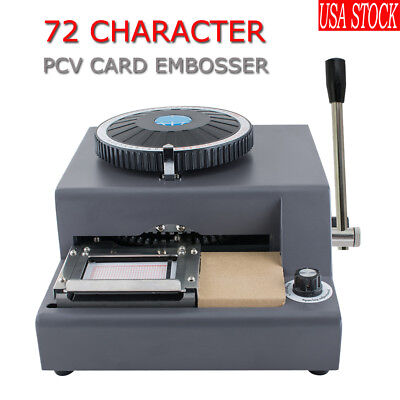 72 Character Letter Manual Embosser Pvc Stamping Card Embossing Machineus Ship