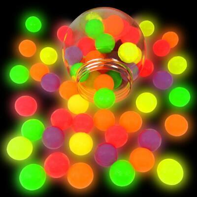 German Trendseller® 6 x Nachtleuchtende - Neon Flummi - Springbälle  Mitgebsel