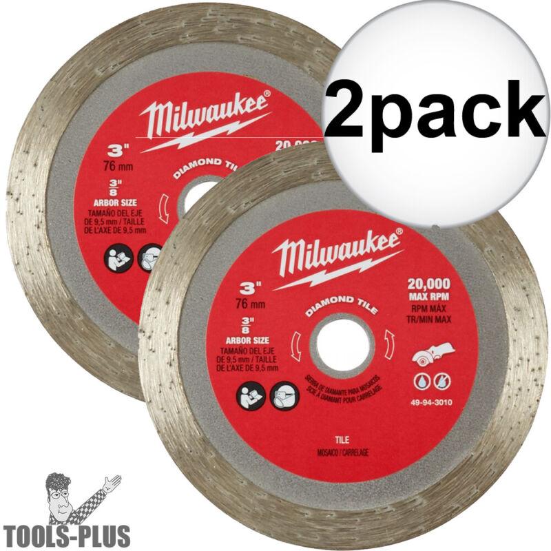 "Milwaukee 49-94-3010 3"" Diamond Tile Blade 2x New"