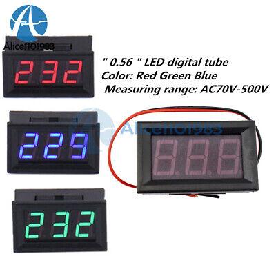 0.56inch Led Digital Panel Voltmeter Ac 70v-500v Ammeter Meter Redblue Green