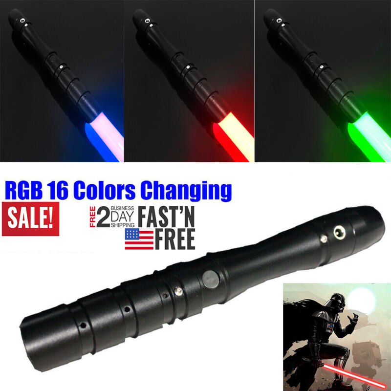 Star Wars Lightsaber RGB 16 Color Changes Fx Effect Force Jedi Cosplay Gift Toy