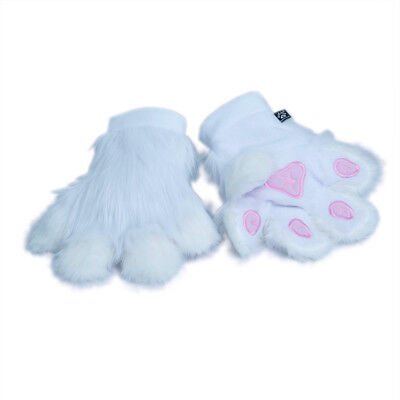 PAWSTAR Pawmitts - Furry Hand Paw Gloves Fursuit Costume White cat [CLAWH]3180