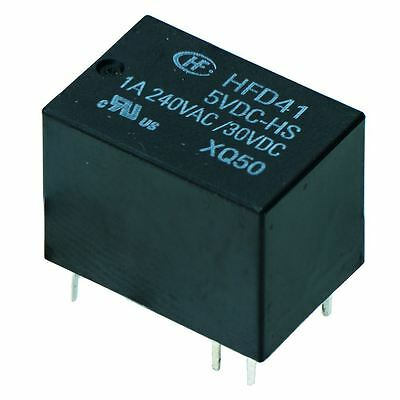 10 12v Subminiature Pcb Signal Relay 1a Spdt Hfd41