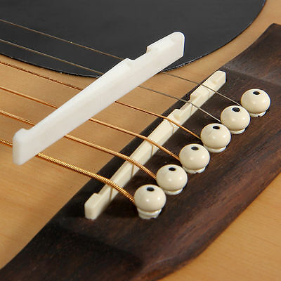 Fresh Buffalo Bone Bridge Saddle And Slotted Nut For 6 String Acoustic Guitar An