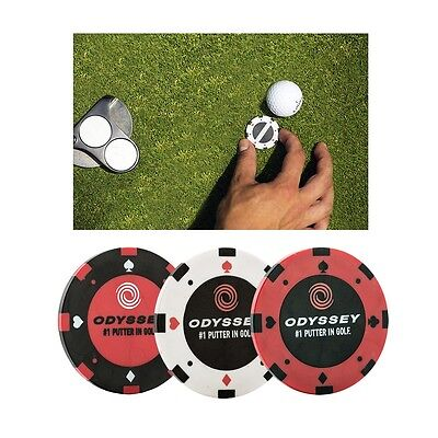 Callaway Golf Odyssey Poker Chip Markers (Pack of 3)
