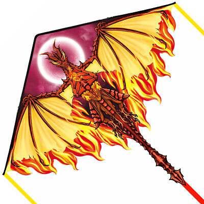 Dragon Kite for Kids Adults, Best Delta Beach Kite, 300ft Kite String (Best Kites For Adults)