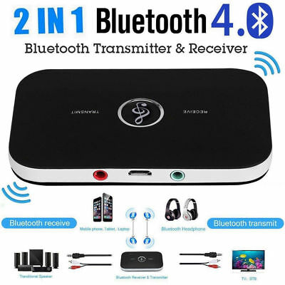 - Bluetooth V4.1 Transmitter & Receiver Wireless A2DP Audio 3.5mm Aux Adapter Hub