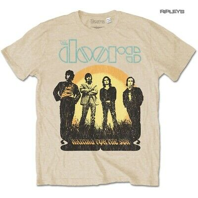 Official T Shirt THE DOORS Jim Morrison Vintage '1968 Tour' Sand All Sizes