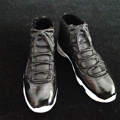 "1/6 scale black Sport Sneaker Basketball boots shoes fit 12"" figure body toys#US"