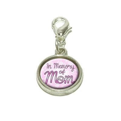 (In Memory of Mom Dangling Bracelet Pendant Charm)