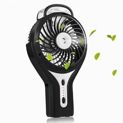 LuxLumi Mini Hand Held Portable Water Misting Fan with Rechargeable Battery  - Mini Hand Fans