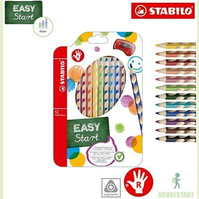 STABILO EASYcolors 12 dreikant Buntstifte RECHTSHÄNDER mit Spitzer, NEU OVP