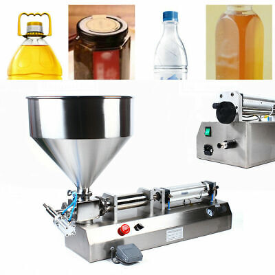 Liquid Paste Filling Machine Pneumatic Water Bottler Filler 50-500ml Filler 110v