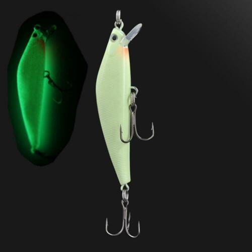 55mm 15g Leech Spoon Paillette Stosh Fishing Lure Crank Bait Treble Hook New