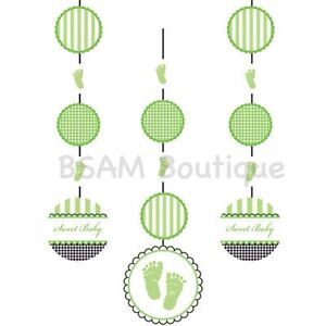 Sweet Baby Feet Themed Party Hanging Room Decorations- Baby Shower, Christening