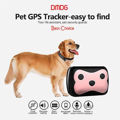 Hot DMDG Tiny Waterproof IPX6 GSM / GPRS / GPS Strap Tracker for Pet Cat/Dog/Pig