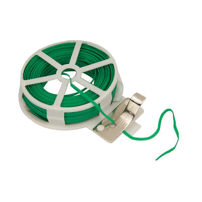 Garden Wire Green Twist Tie Reel PVC Coated Plant Support Flexible 30m Pvc Plant Support