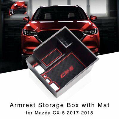 Armlehne Aufbewahrungsbox Mittelkonsole Schwarz ABS Für Mazda CX-5 2017-2018