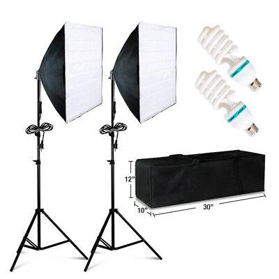 Купить 2 PCS Photography Lighting Softbox Stand Photo Equipment Soft Studio Light Kit