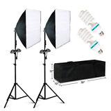2 PCS Photography Lighting Softbox Stand Photo Equipment Soft Studio Light Kit