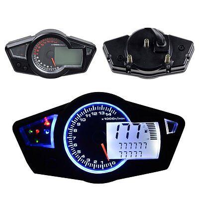 Motorcycle 12V DC 15000 RPM Multi Function Odometer Speedometer Tachometer Gauge