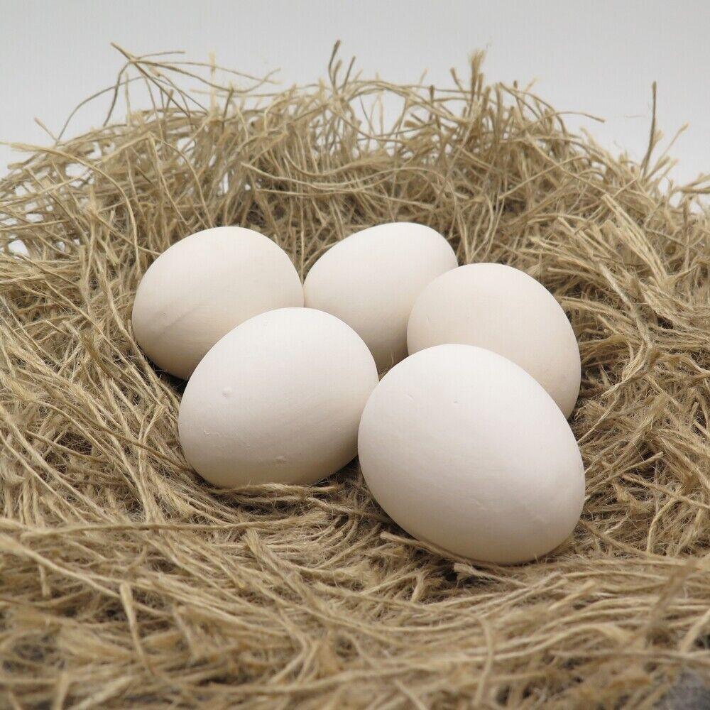 Nesteier für Hühner aus Ton Gips - 2 5 10 Stück - künstliche Eier Hühnernest