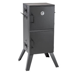 FISH AND MEAT BBQ FOOD SMOKER COOKER HOT COLD WITH THERMOMETER 300°C