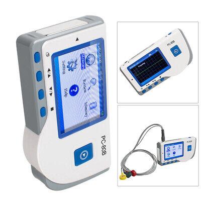 Handheld Portable Ecg Ekg Heart Monitor Pc-80b Electrocardiograph Machine Usb
