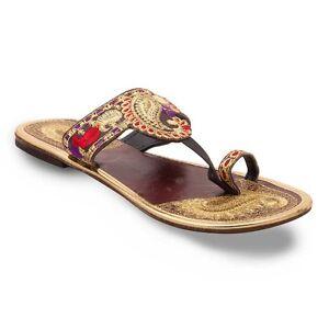 women footwear designer sleeper sandal ladies embroidery