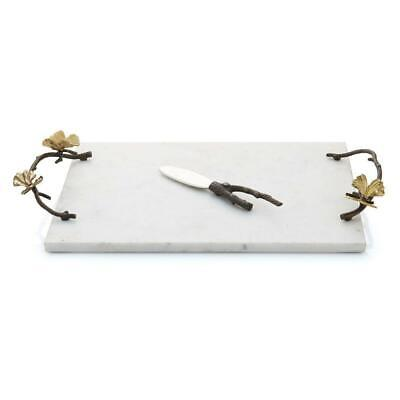 Michael Aram Butterfly Ginkgo Marble Cheese Board with Knife - 175768