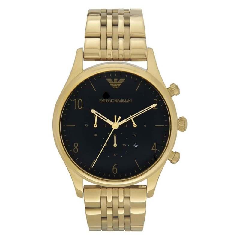 Armani Uhren Emporio Armani AR1893 Armani Schwarz & Gold Herrenuhr