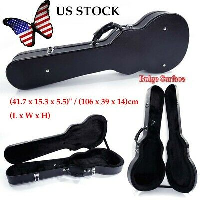 "41"" Black Electric Guitar Hard Case Guitar Case Box Glarry Bulge Surface New"