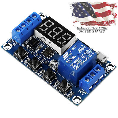 Dc 6-30v 1-way Relay Module Power-off Trigger Delay Cycle Timer Switch