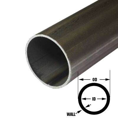 E.r.w. Steel Round Tube 2.000 2 Inch Od 0.083 Inch Wall 36 Inches