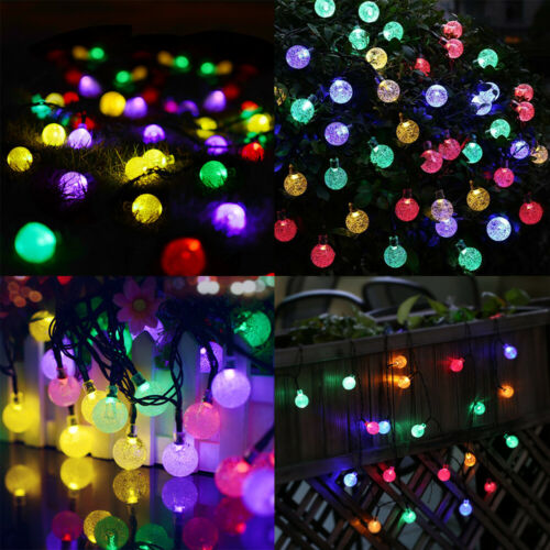 21FT Outdoor String Lights 30 LED Solar Bulb Patio Party Yard Garden Wedding 9
