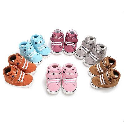 Toddler Newborn Baby Girl Boy Crib Shoes Anti-slip Sneakers