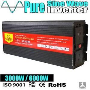Pure Sine Inverter 3000w-6000w caravan camping power battery con Wangara Wanneroo Area Preview