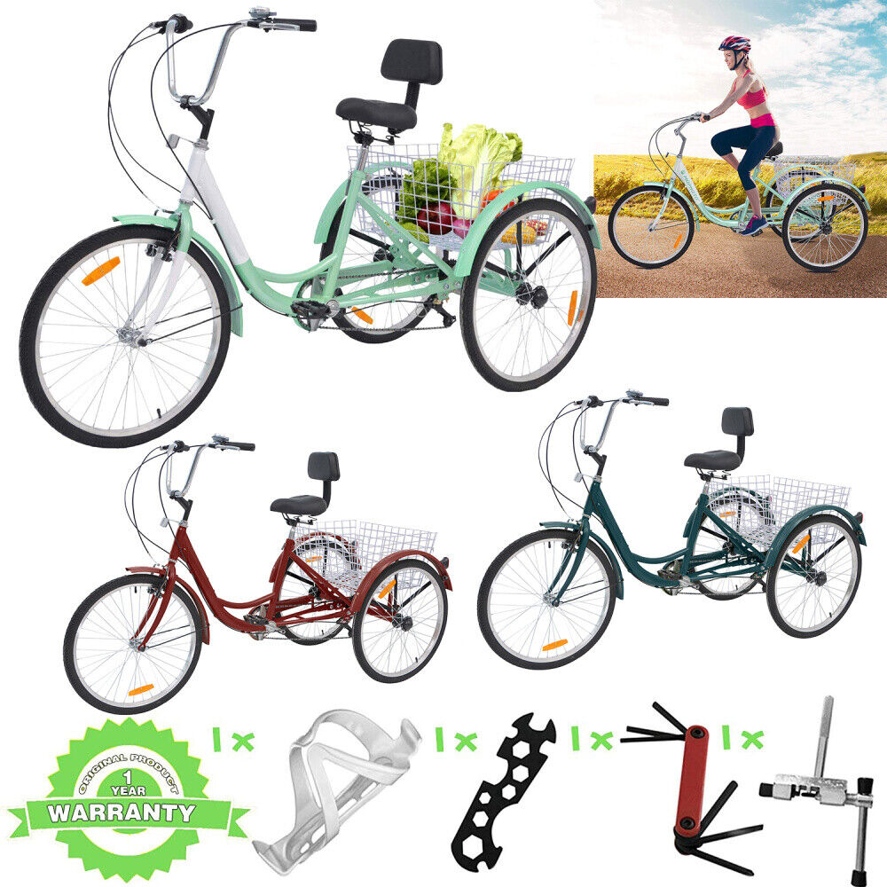 7 Speed Adult Tricycle 26 inch 3 Wheel Bike Bicycle Cruise T