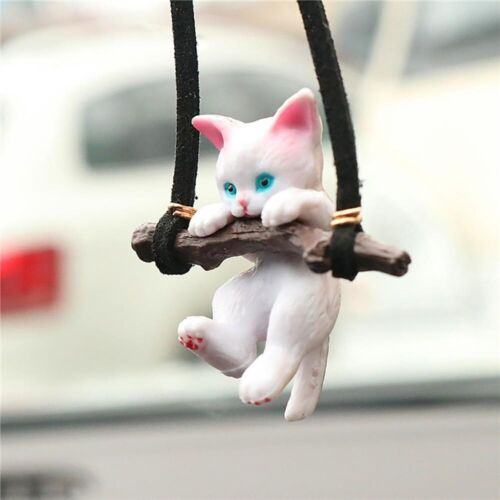 cute branch cat Car Vehicle Pendant Rearview Mirror Hanging Decoration Ornaments