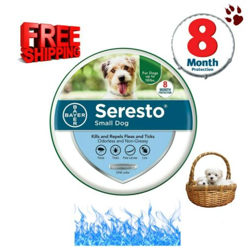 Bayer Seresto Flea and Tick Collar for Small Dog 8 Months Prevention FAST SHIP