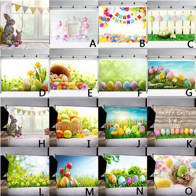 Easter Day Theme Vinyl Photography Backdrop Custom Photo Background Props - Custom Photo Props